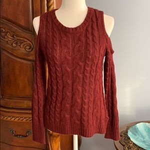 Hippie Rose cold shoulder sweater- Size S
